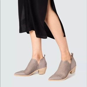 DOLCE VITA Sher Perforated Ankle Booties In Grey